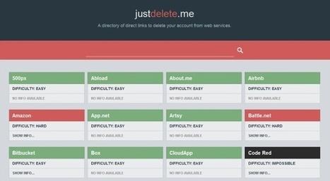 «Just delete me», ou comment supprimer vos comptes Amazon, Skype ou iTunes... quand c'est possibe | netnavig | Scoop.it