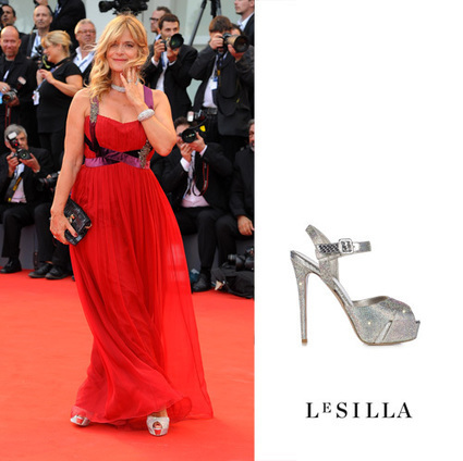 Nastassja Kinski On Le Silla Crystals Sandals | Le Marche & Fashion | Scoop.it