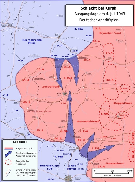 Map - The Battle of Kursk - Facts & Summary | History & Maps | Scoop.it
