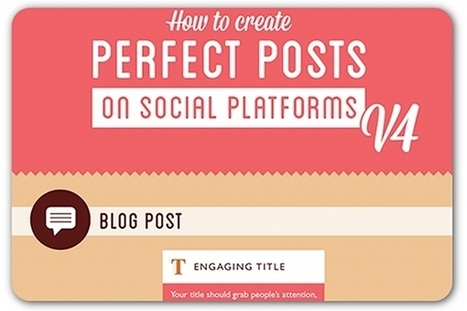 A guide to perfect social media posts | ProfessionalDevelopment PerfectionnementProfessionnel | Scoop.it