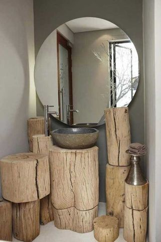 DIY: Fabriquer des meubles déco en rondin de bois | Habitat intérieur | Scoop.it
