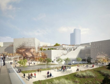 Giant green roof to top MVRDV's redesign of Lyon's iconic Part-Dieu mall | Greenroofs & Urban biodiversity | Scoop.it