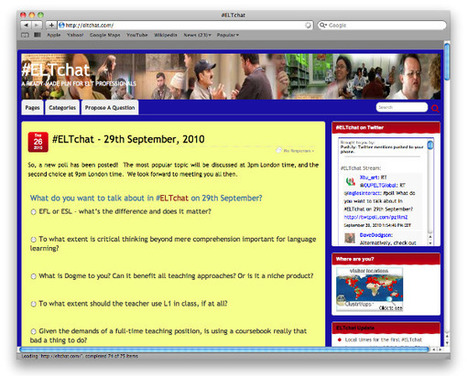 #ELTChat | TEFL.net | ELTchat  on Twitter | Scoop.it