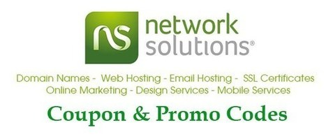 Network Solutions coupon: $.99 domains - 40% off SSL | THE BEST COUPON CODES | Scoop.it