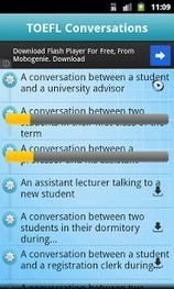 TOEFL Listening (Conversation) - Applications Android sur GooglePlay | Android to learn English | Scoop.it