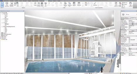Some useful Revit tips for creating the design of a swimming pool or any water material in Revit | BIM Forum | Scoop.it