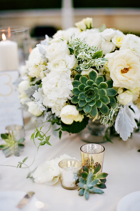 Turn A New Leaf: Chic Green Centerpieces for Spring - Albums Remembered | Wedding albums | Scoop.it