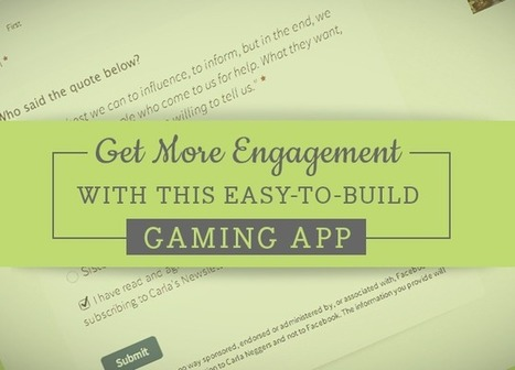 Get More Engagement with this Easy-to-Build Gaming App - SociallyStacked - Everything Social for Small Businesses and Agencies | Michael Pingree's Facebook Report | Scoop.it