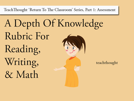 A Depth Of Knowledge Rubric For Reading, Writing, And Math | English Language Teaching and Learning | Scoop.it