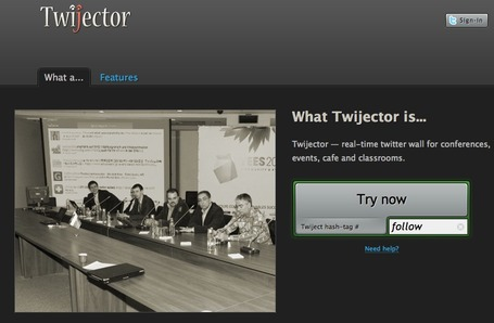 Twijector - real-time twitter wall (back channel) for conferences and events | Education Technology - theory & practice | Scoop.it