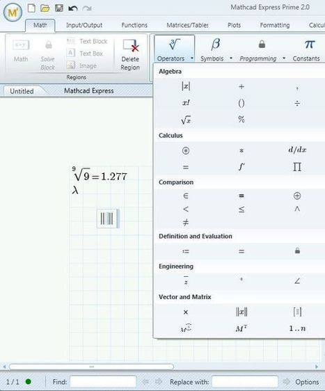 Free CAD Mathematical Calculation Software: Mathcad Express | Time to Learn | Scoop.it