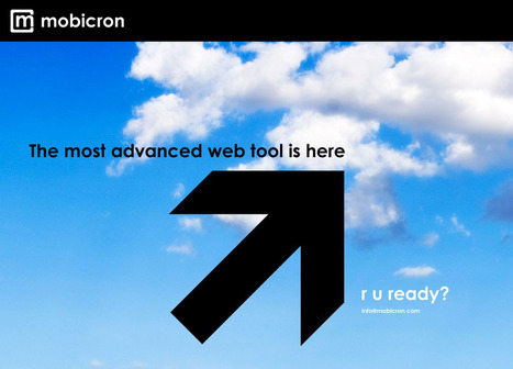 Mobicron - The most advanced mobile site builder | Web 2.0 Tools and Apps | Scoop.it