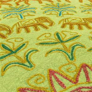 Bedspread Tapestry with Embroiderey | eyesofindia | Scoop.it