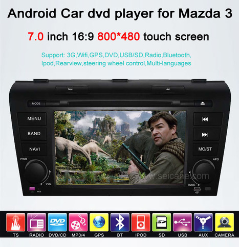 Android Car DVD Gps navigation Stereo for Mazda 3 with Radio Bluetooth 3G Wifi | Carputer-shop.co.uk | Scoop.it