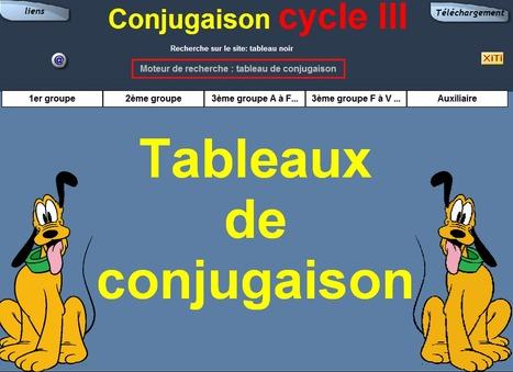 Tableaux de conjugaison | Remue-méninges FLE | Scoop.it
