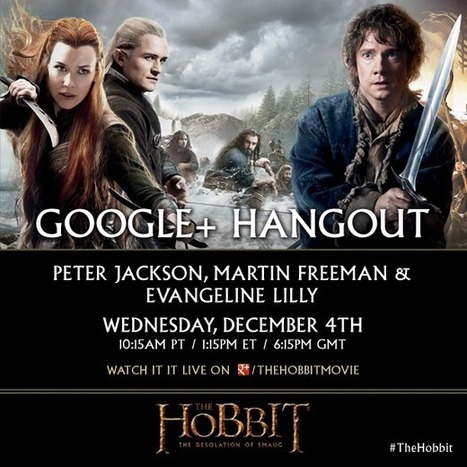 Middle-earth News – The Hobbit Google+ Hangout with Peter Jackson, Martin Freeman and Evangeline Lilly | Movies | Scoop.it