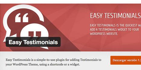 Los 7 mejores plugins de WordPress para añadir testimonios en tu web | Tecnologías Digitales - Tecnologías Emergentes - Recursos y Herramientas Digitales | Scoop.it