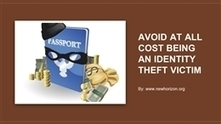 Avoid At All Cost Being An Identity Theft Victim | Daily Personal Finance Tidbits | Scoop.it