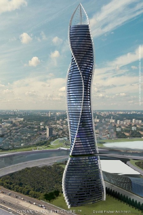 Rotating skyscraper transforming Moscow skyline | Amazing Buzz | Scoop.it