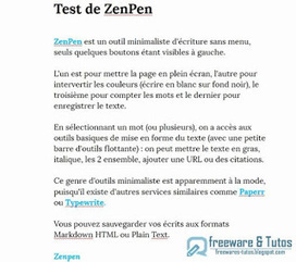 ZenPen : un outil d'écriture en ligne minimaliste ~ Freewares & Tutos | François MAGNAN  Formateur Consultant | Scoop.it