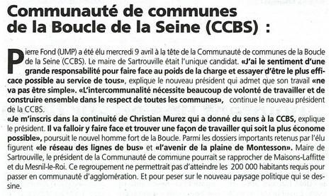 Election du nouveau président de la CCBS (communauté de communes) | Croissy sur Seine | Scoop.it