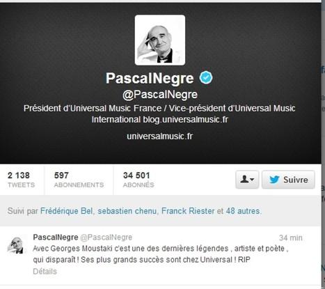 Quand Pascal Nègre surfe sur la mort de Moustaki pour faire la promo d'Universal - Huffington Post | Bruce Springsteen | Scoop.it
