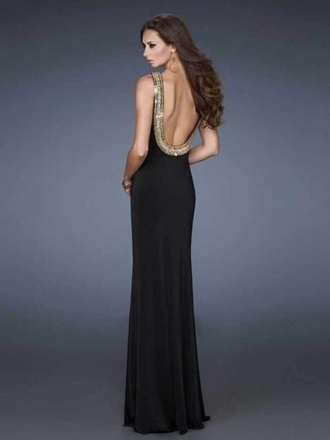 Good Sheath Column Round Floor-Length Elastic Satin 2014 Black Prom Dresses | Fashion Dresses | Scoop.it