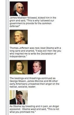 Tea Party Email Jokes About Founding Fathers Beating Obama To Death | Daily Crew | Scoop.it