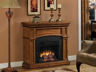 Electric Fireplace and Mantel   Home Decoration   Scoop.it