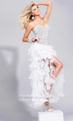 White Sequins Top High Low Ruffle Prom Dresses 2014 [white high low dresses] - $167.00 : Cheap Sequin Prom Dresses2014,Online Tailored Prom Dresses Shop,Homecoming Dresses Cheap | sherri hill prom dresses 2014 | Scoop.it