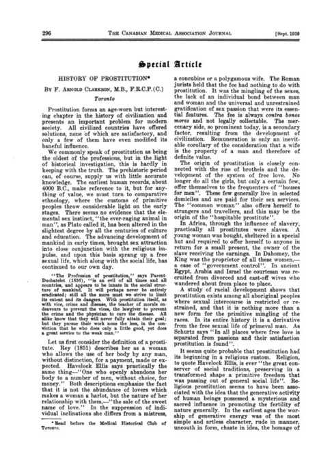 History of Prostitution (1939)   Sex History   Scoop.it