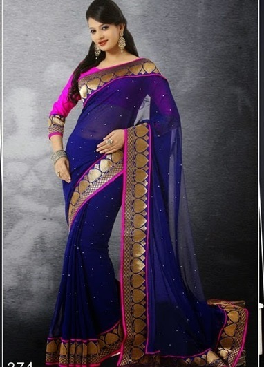 Look gorgeous in half and half saree | Buy Women's Clothing Online in Affordable rate | Scoop.it