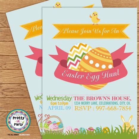 Easter Invitation 001 - DIY Custom Printable Invitation   Personalised Return Gift   Scoop.it