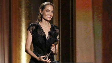 Angelina Jolie reçoit le premier oscar de la saison   En coulisses   Scoop.it