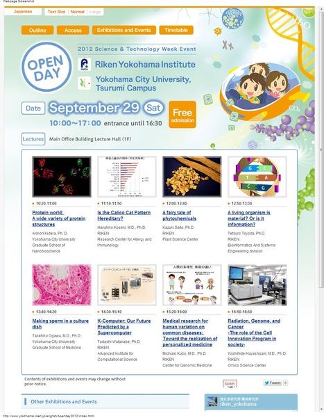 Sep. 29, 2012   Open Day   RIKEN Yokohama Institute / Yokohama City University   GenoCon 2   Scoop.it