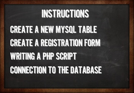 How to create a registration form using PHP and MySQL | ANTONOFF+ | PHP for life | Scoop.it
