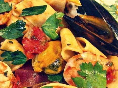 Calamarata with Shrimp and Mussels | Le Marche and Food | Scoop.it