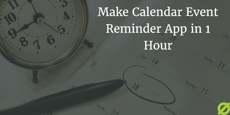 Make Calendar Event Reminder App Using Event Kit Framework | Get amazed with iPhone App (Product) | Scoop.it