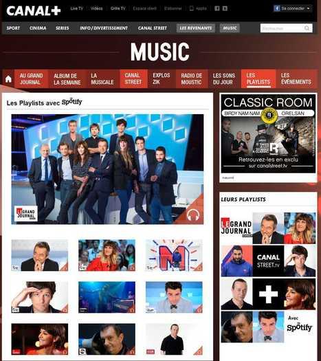 Canal+.fr lance le site Music en partenariat avec Spotify - Offremedia   Radio 2.0 (En & Fr)   Scoop.it