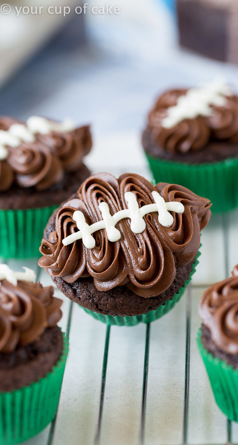 Easy Football Cupcakes (with video) - Your Cup of Cake | Passion for Cooking | Scoop.it