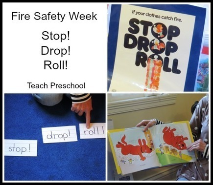 Stop, Drop, and Roll : Fire safety week in preschool | Learning and Teaching Literacy | Scoop.it