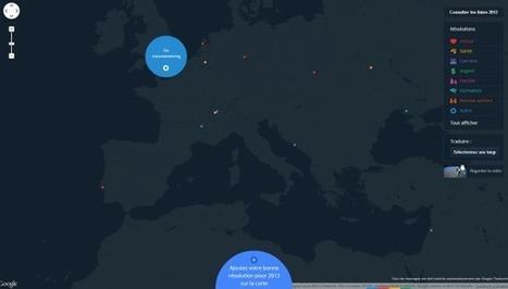 Une carte mondiale des bonnes résolutions 2013 signée Google ! | veille e-tourisme (web 2.0) | Scoop.it