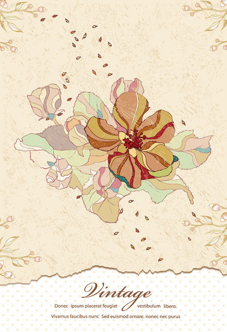 70+ Free Graphics: Vintage Vector Flowers and Floral Ornament Sets   Vectortuts+   Web Design from Brand Graphics   Scoop.it