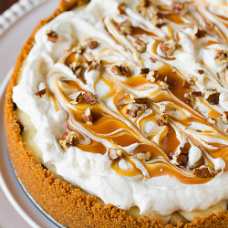 Salted Caramel Apple Cheesecake Pie | new baking ideas | Scoop.it