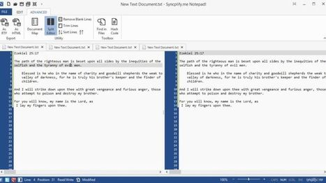 Notepad! is a Feature-Packed Text Editor with Ribbon UI and Tabs | Best Free Software | Scoop.it
