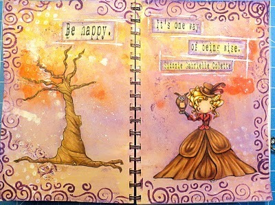She's gone digital...: Anything Goes Art Journal Pages | Journal For You! | Scoop.it