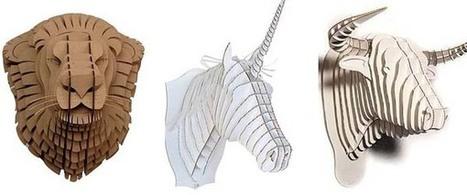 Cabezas de animales de cartón.   Mil ideas de Decoración   Accesorios decoración   Scoop.it