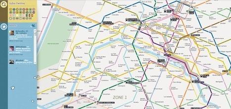 Un plan du métro de Paris en HTML5 avec alertes Twitter | Paris Je T'aime | Scoop.it