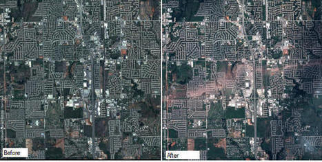 Moore, Oklahoma, before and after the tornado, seen by Pléiades - Directions Magazine | Geography Bits | Scoop.it