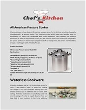 All American Cookware Set - Chef's Kitchen   Food Saving   Scoop.it